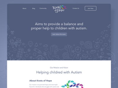 Knots Of Hope Website charity website autism hope knots