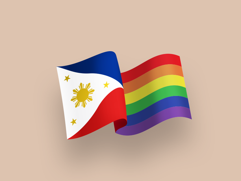 Philippines / Pride flag illustration equality independence philippines gay pride