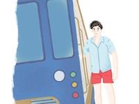 Boy 👦 in tram 🚊