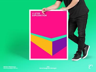V Letter Exploration startup logo learning design art realistic perspective vector 3d creative logo business logo design lettermarkexploration lettermark logo logo design concept logodesign logo lettertype