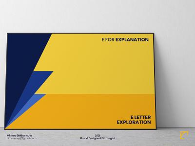 E Letter Exploration | Letter Poster book perspective letterart typography letter exploration 36daysoftype poster designer minimal poster logotype design logos lettermark letter