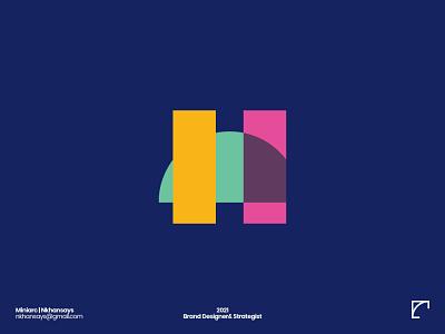 H Letter Exploration nkhansays creative logo artwork lettermark logotype 36daysoftype branding agency minimal logo design logo h letter abstract logo abstract design