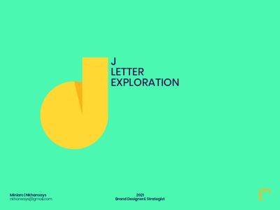 J Letter Exploration logo design branding design application face happy abstract design lettering art lettering challenge 36dayoftype letter exploration j letter logo