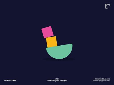 L Letter Exploration logomarks 36daysoftype creative logo balance logo logomark lettering logo lettering l letter logo