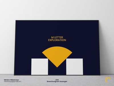 M Letter Exploration vector illustration adobe illustrator 36daysoftype abstract logo abstract art shapes letterpress logosketch logotype lettermark m letter logo