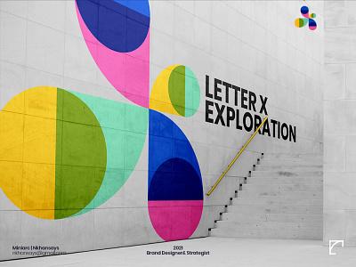 X Letter Exploration 36daysoftype pattern art floral art vector art minimal logo design logotype lettermark geometric design color palette x letter
