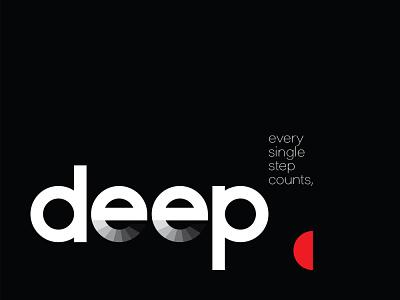 Deep Minimal Poster inspiration logo creative ad poster design creative ideas design inspiration design wordmark minimal poster poster