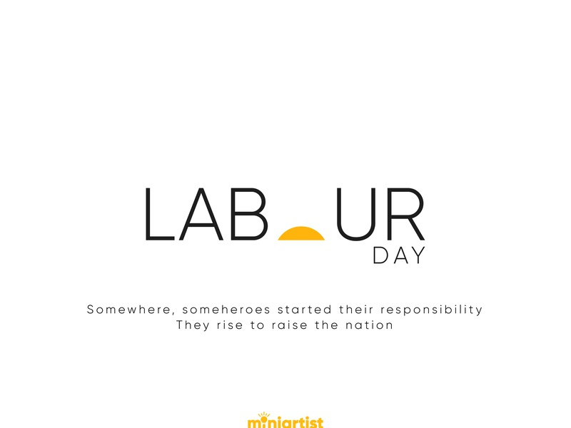 Labours Day design event international nation rise up minimal poster minimal art labor labor day