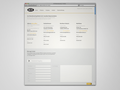 Ace Manufacturing Contact Page