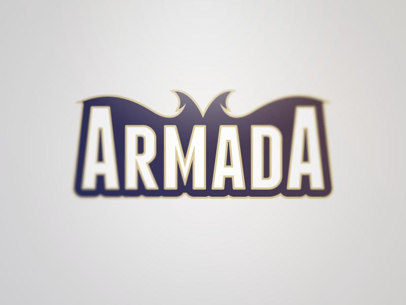 Armada Word Mark logo word mark clean bold modern sans serif sports sport logo