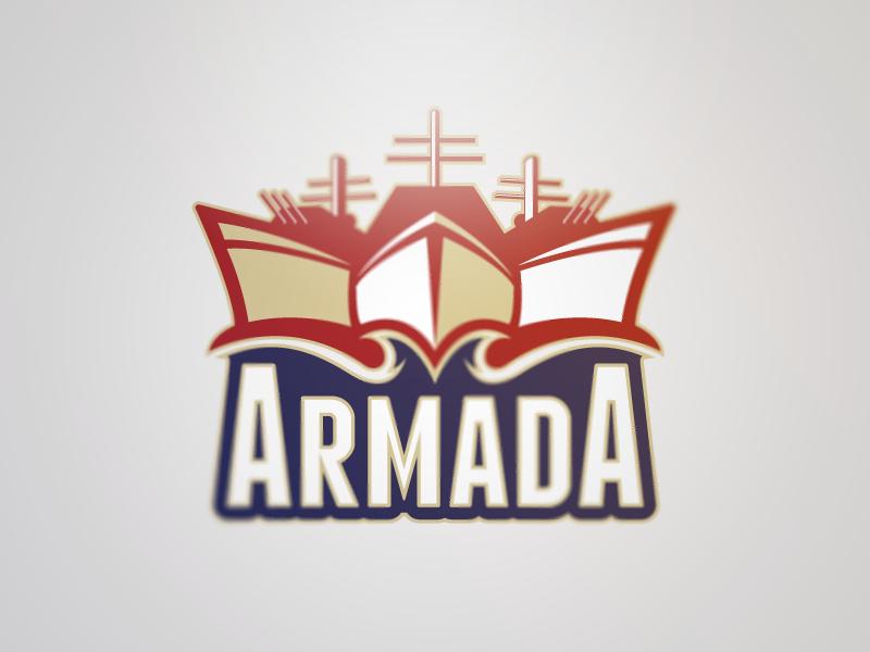 Armada Full Logo logo word mark clean bold modern sans serif sports sport logo ship fleet armada