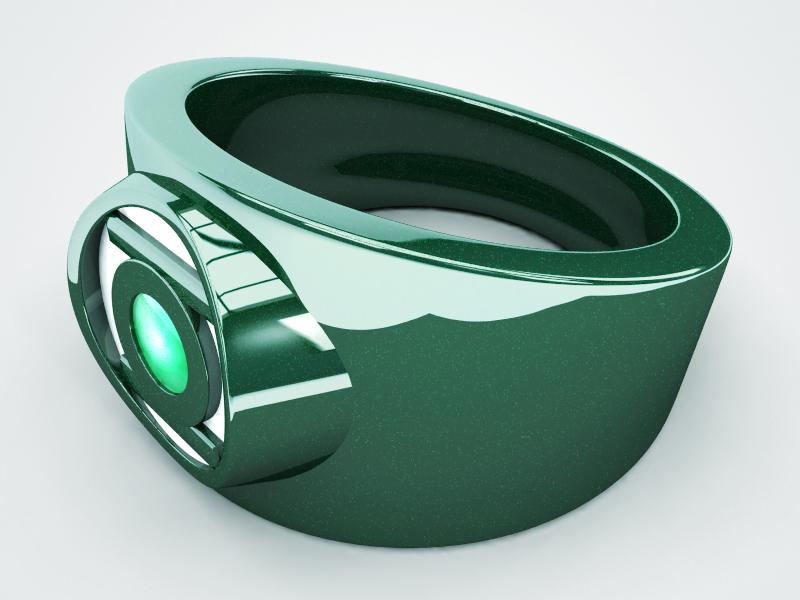 3D Green Lantern Ring 3d 3d model green lantern design render digital model