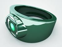 3D Green Lantern Ring