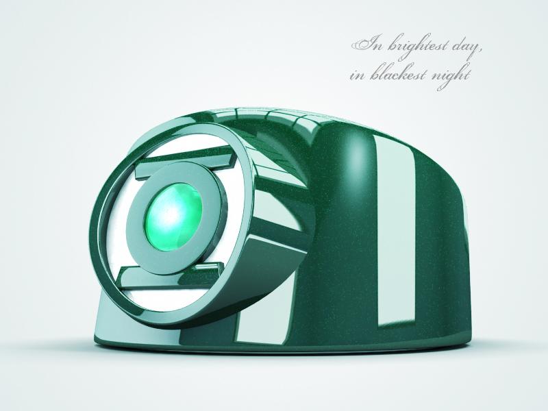 In brightest day 3d 3d model green lantern design digital model render