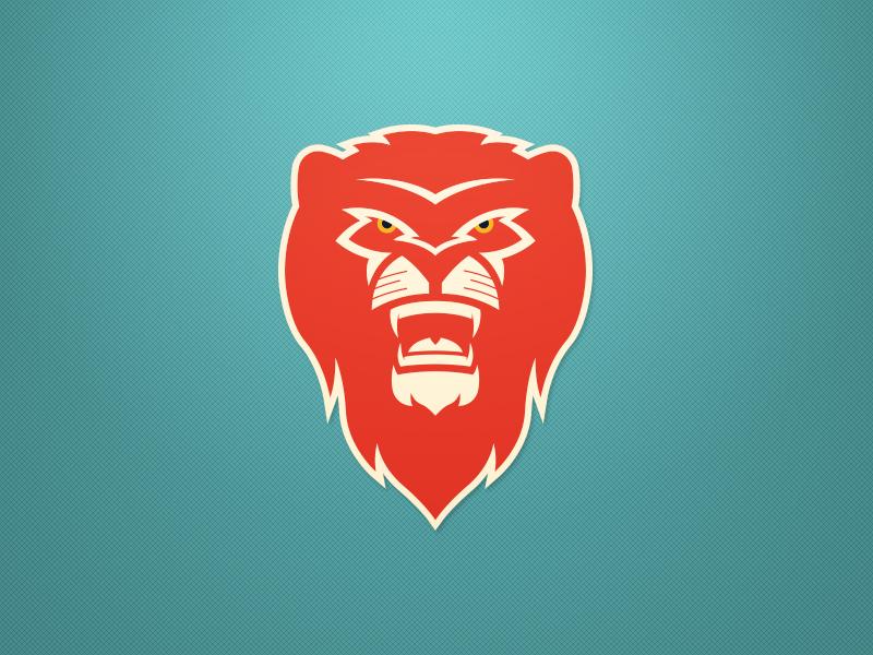 Lion Logo - Red clean bold sports logo concept lion branding