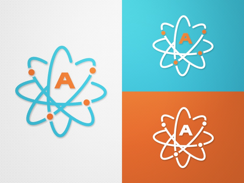 Alternate Atoms Logo atom vector design flat design concept sport logo branding sports bold modern clean logo