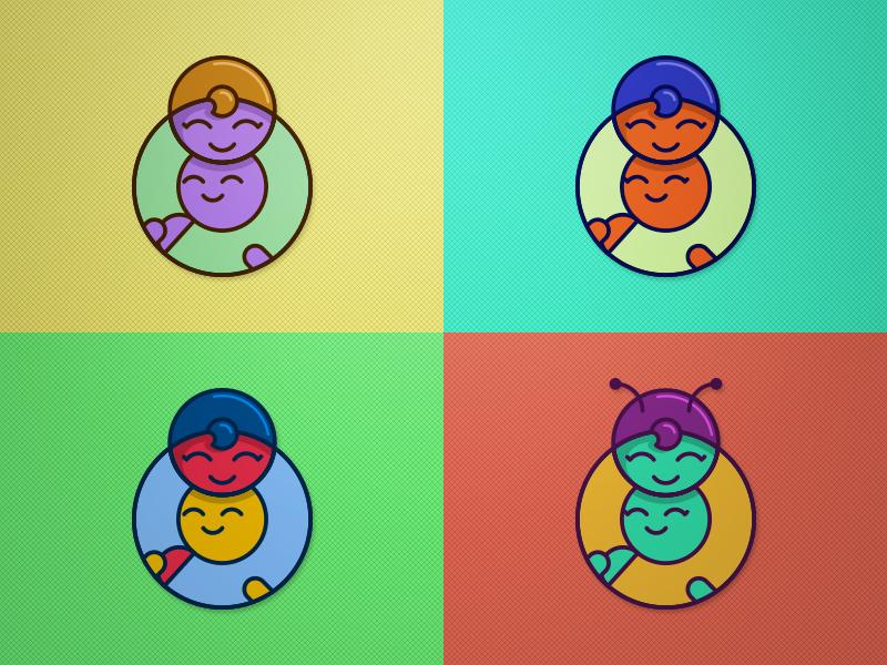 Give Your Mom a Hug mothers day vector modern flat design human logo icon hug