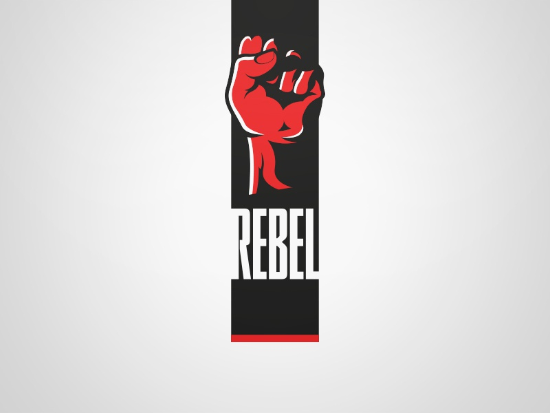Rebel Logo - White. Weekly Logo Project 13/52 vector rebel modern logo flat design flat concept clean branding bold
