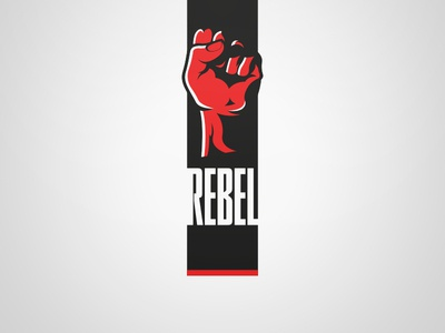 Rebel Logo - White. Weekly Logo Project 13/52