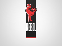 Rebel Logo - White. Weekly Logo Project 13/52
