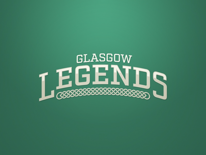 Glasgow Legends Logo. Weekly Logo Project 17/52 word mark vector sport logo sports modern logo flat design flat legends legend concept clean branding bold
