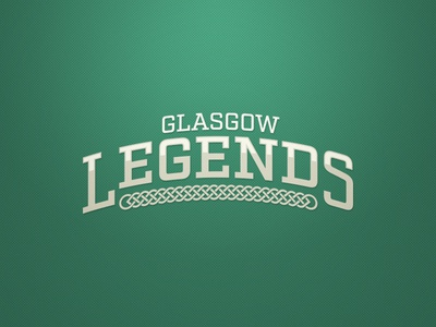 Glasgow Legends Logo. Weekly Logo Project 17/52