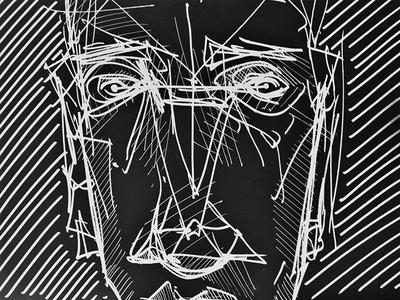 Dimension II face geometry gestalt illustration dimension graphic design point line plane shape depth