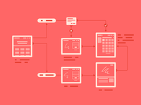 Wireframing illustration
