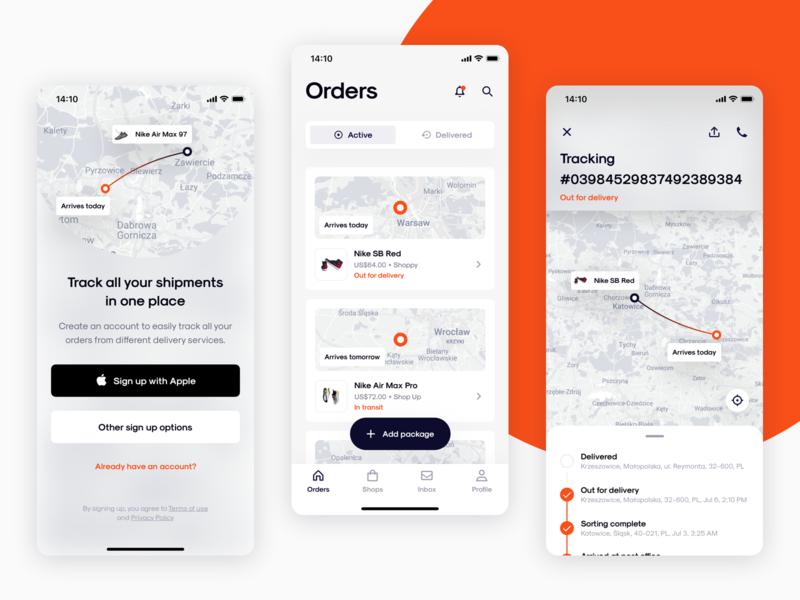 Package Tracking App tracking app delivery app app concept application ux design app design ux uiux ui design ui