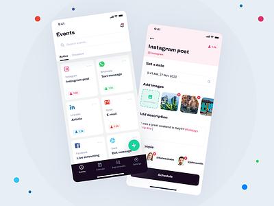 Schedule app message app socialmedia schedule schedule app mobile app app concept application ux design app design ux uiux ui design ui