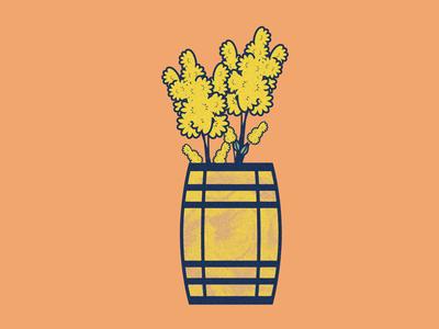 Goldenrods in a Bourbon Barrel