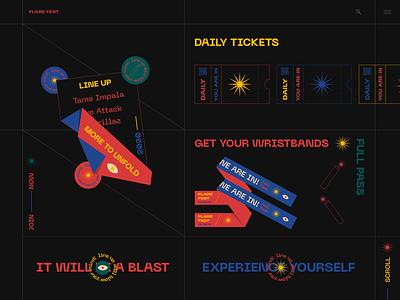 Music Festival Interface festival music branding illustration webdesign mobile ui ux web interface design ui