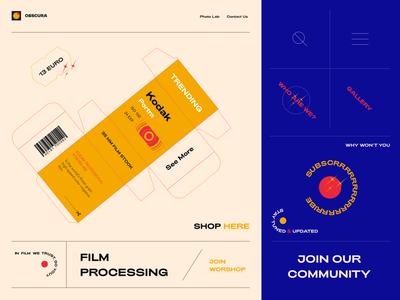 Film Laboratory Concept UI camera 35mm film illustration webdesign web ux interface ui design