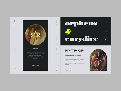 Myth of Orpheus and Eurydice orpheus history mithology myth typography branding webdesign web ux interface ui design