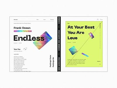 Endless - Frank Ocean webdesign web interface ui design