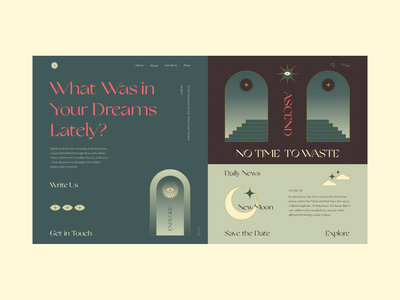 Dream Synopsis stars moon dreams illustration webdesign web ux interface ui design