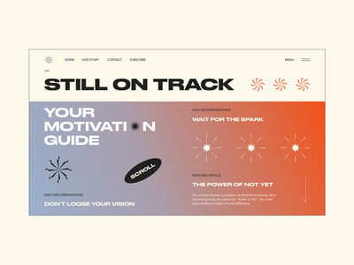 Motivation Guide motivation star gradient typography webdesign web ui interface design