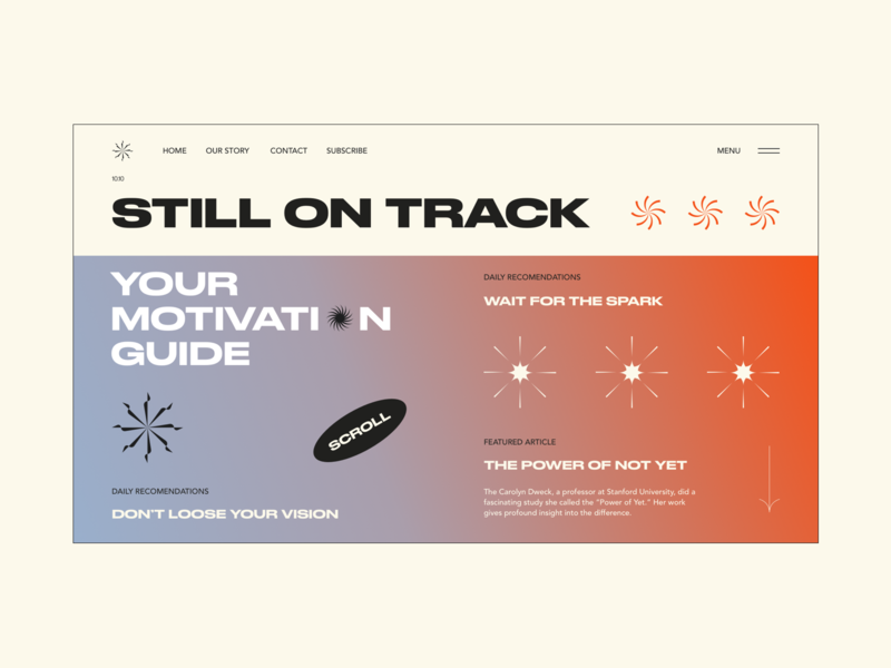 Motivation Guide motivation star gradient typography webdesign web ui interface design