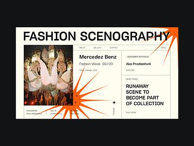 Fashion Scenography vector typography web webdesign interface design ui