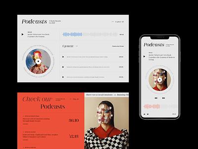 Podcasts interface ui webdesign web