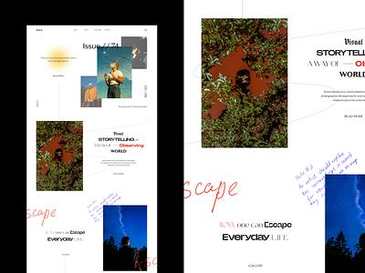 Photography Web Concept webdesign interface photography web ui typography design