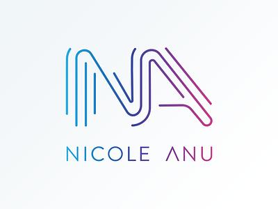 Nicole Anu Logo line gradient music brand logo anu nicole singer