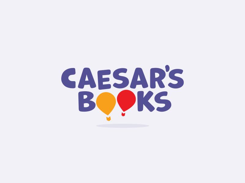 Caesars Books baloon caesar books brand logo