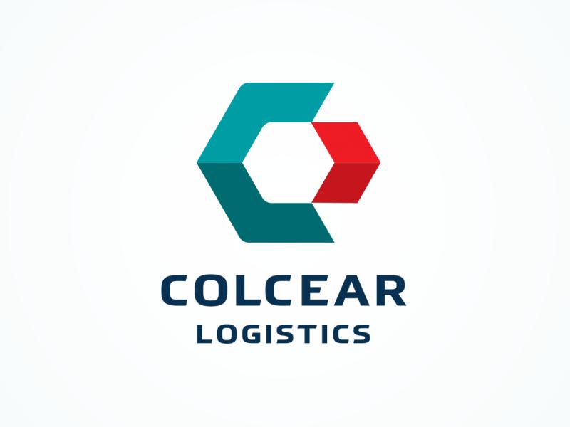 Colcear Logistics logo chemistry logistics transportation transport logo