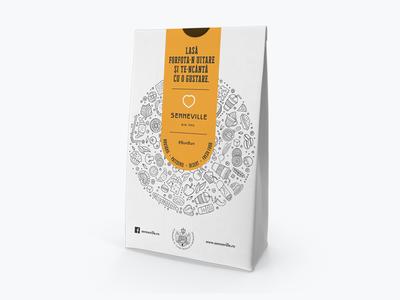 Senneville paperbox sandwich design packaging