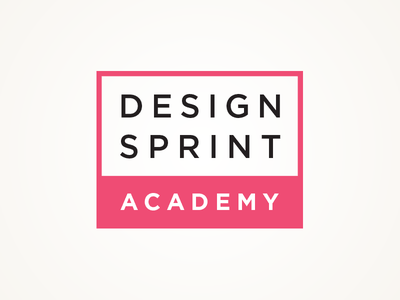 Design Sprint Academy typography clean rectangle red square logo academy sprint design