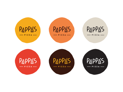 Pappa's Pizza restaurant triangle food pappa pizza logo