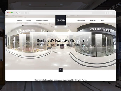The Grand Avenue - Website shopping luxury interface web design website uidesign ux ui
