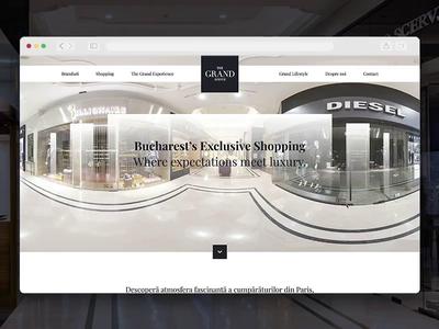 The Grand Avenue - Website shopping luxury interface web design website uidesign ux ui