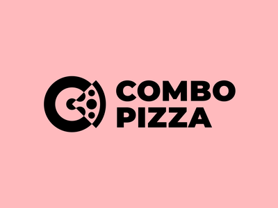 Combo Pizza logotype minimalism modern logo logo coffee cup packaging branding pizzeria fastfood restaurant cafe food